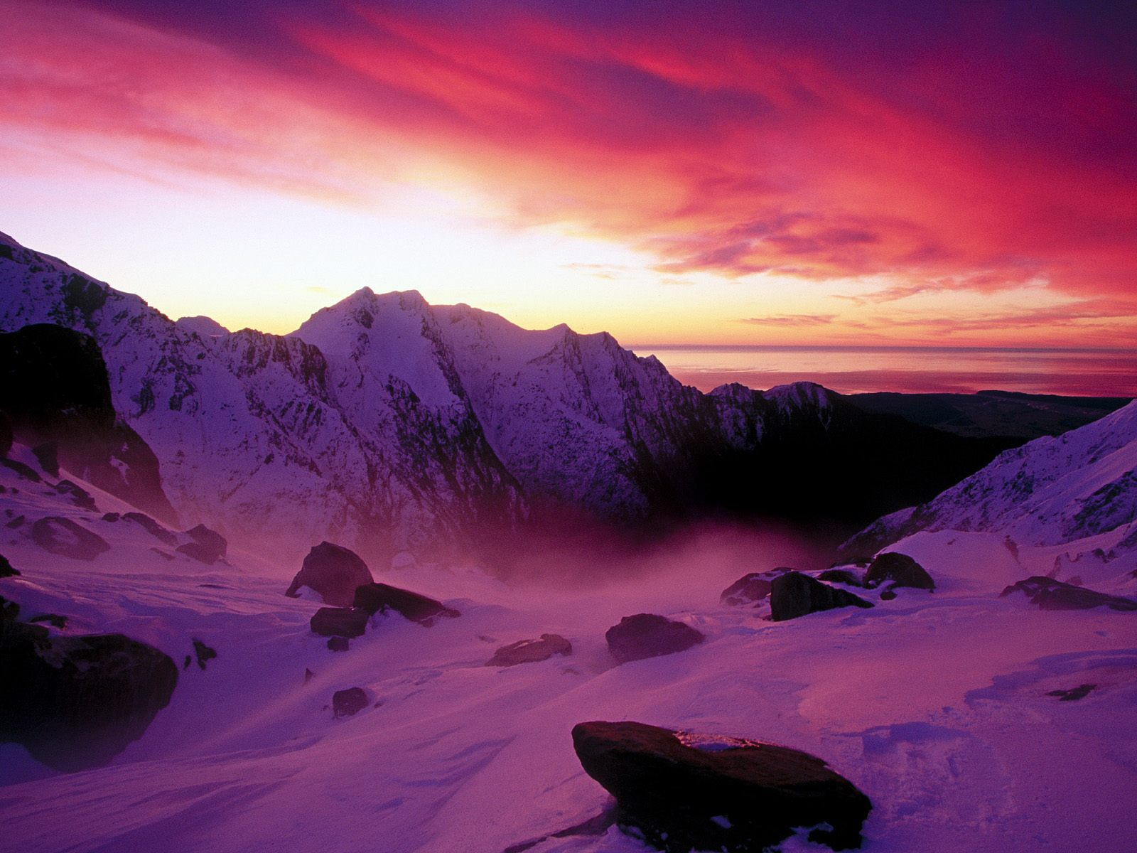 Sunset Over Franz Josef Glacier New Zealand 2697.66 Kb