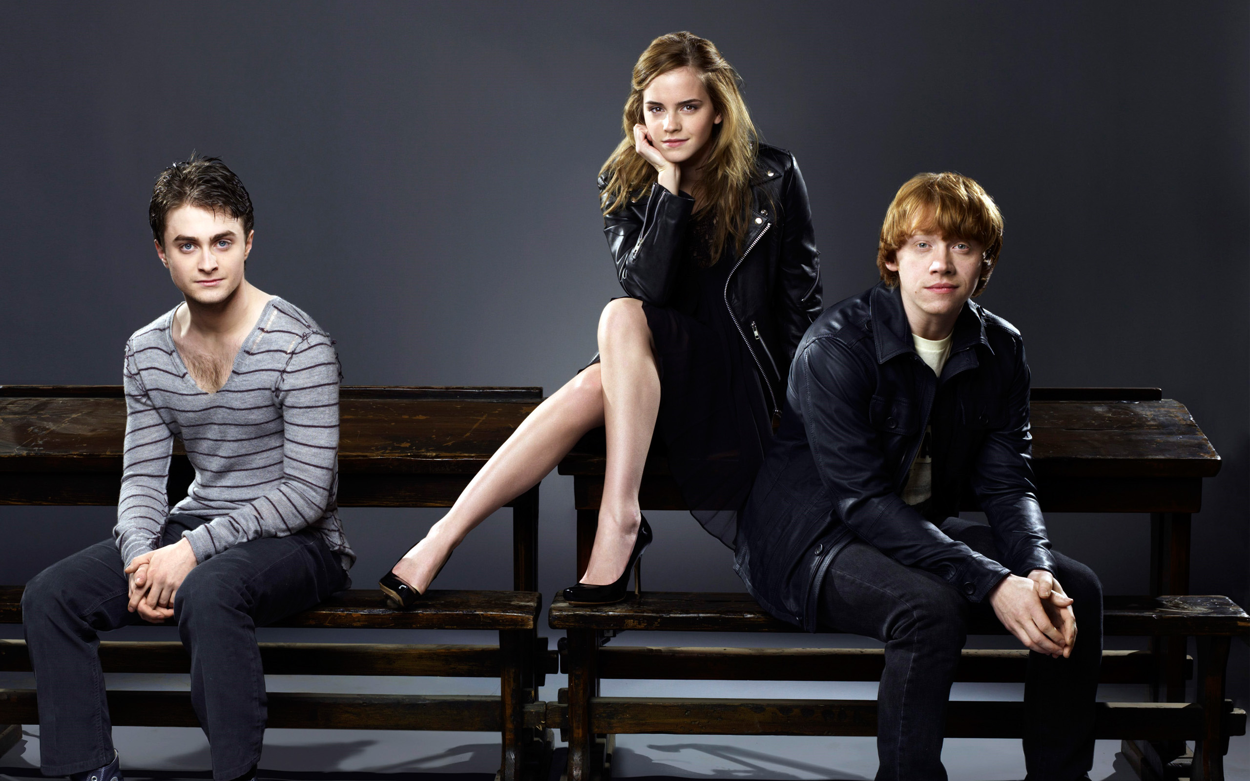 Emma Watson With Harry & Ron
