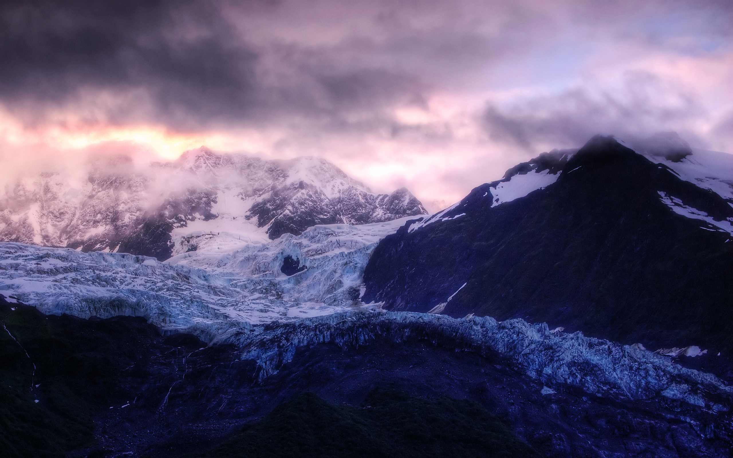 Glacier Sunrise 473.1 Kb