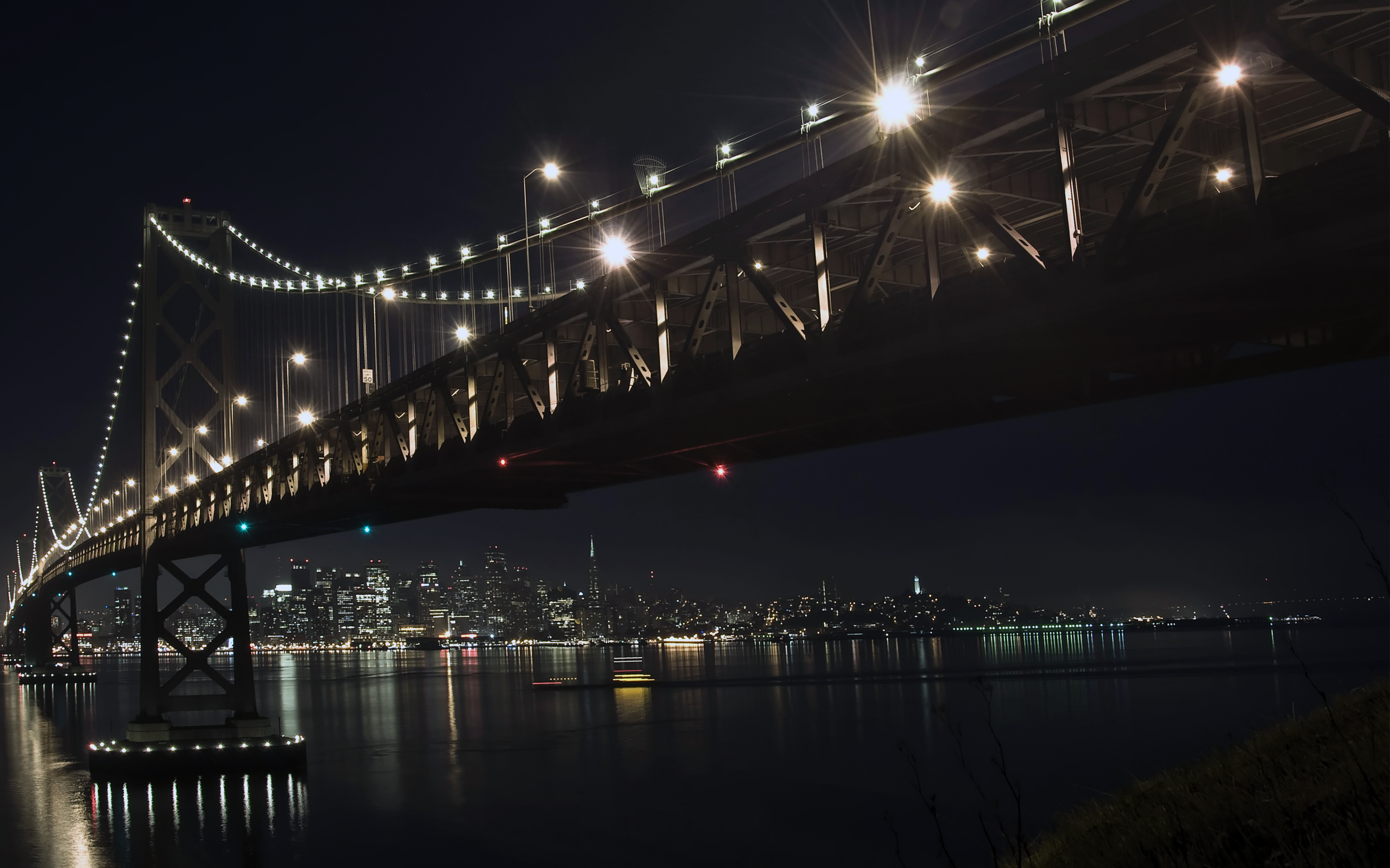 The bay bridge by night 2467.43 Kb