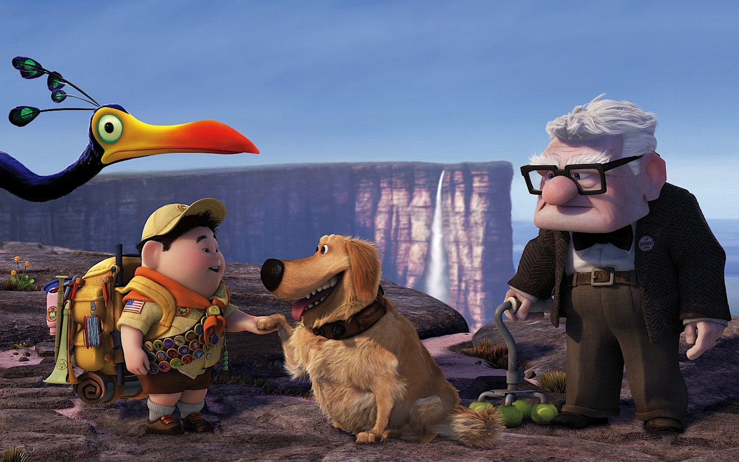 Russell Dug Carl Fredricksen in Pixar's UP 306.52 Kb