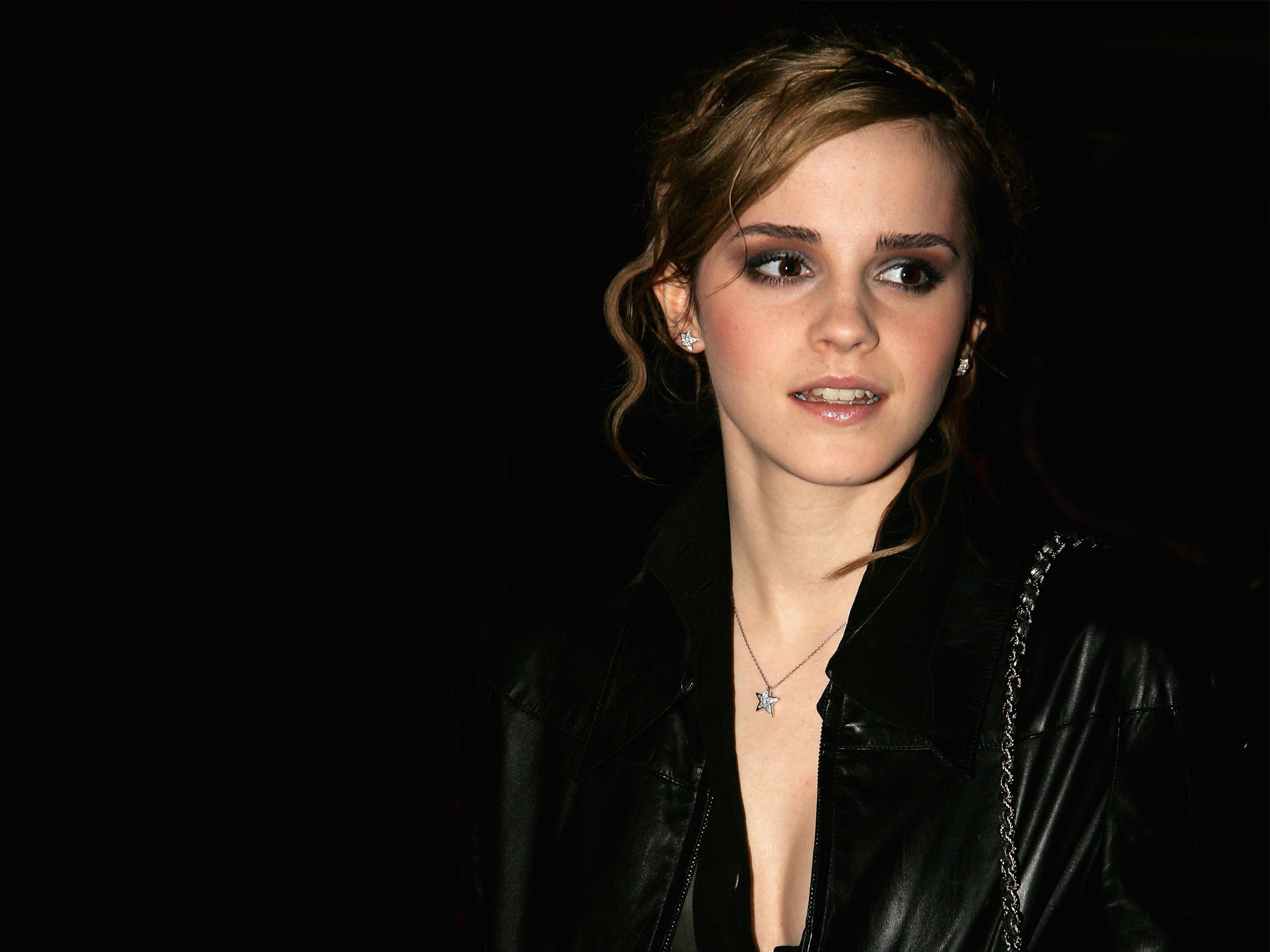 Emma Watson in Black Coat