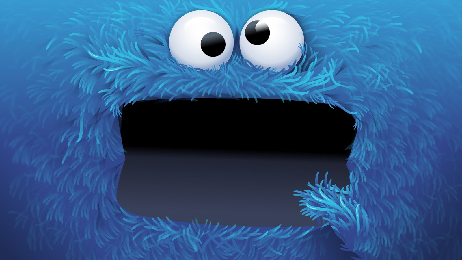 Blue Cookie Monster Wallpaper