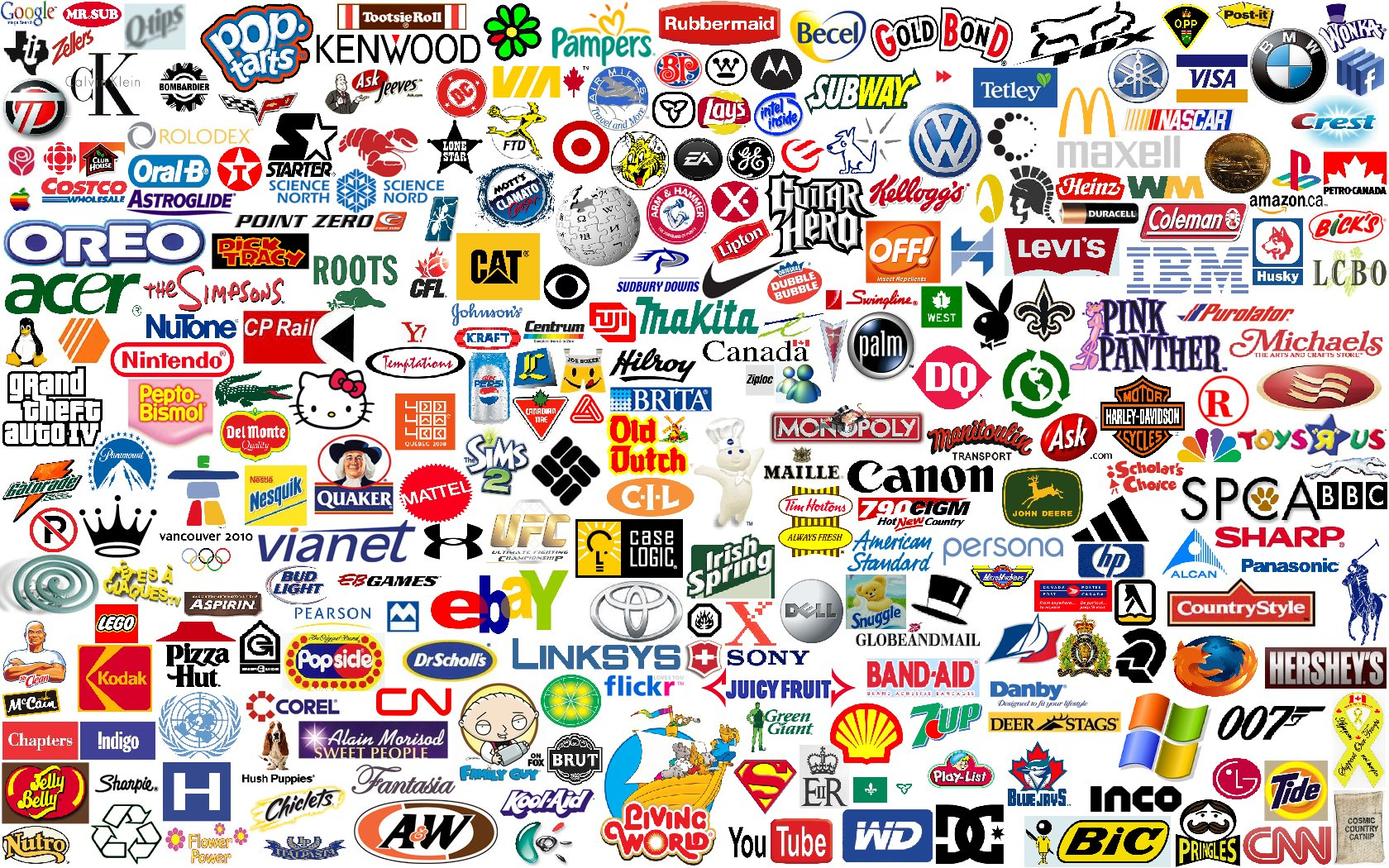 All Popular Brands in One Picture 872.64 Kb