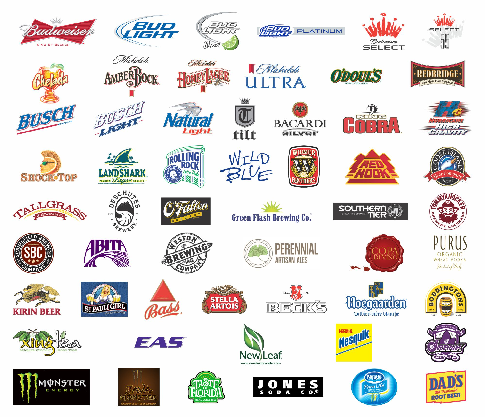 Brands of Drinks and Beverages 872.64 Kb