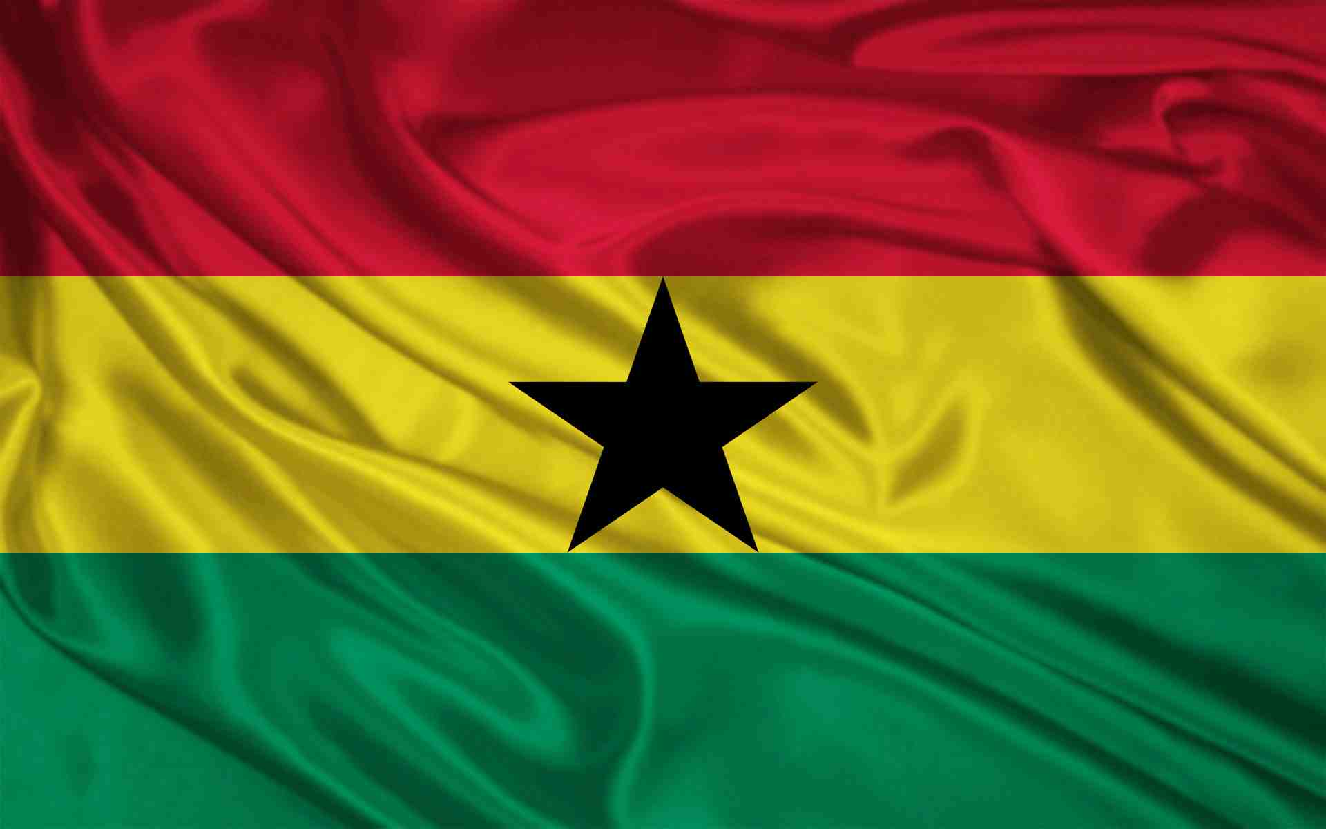 Ghana National Flag with a Star 109.49 Kb