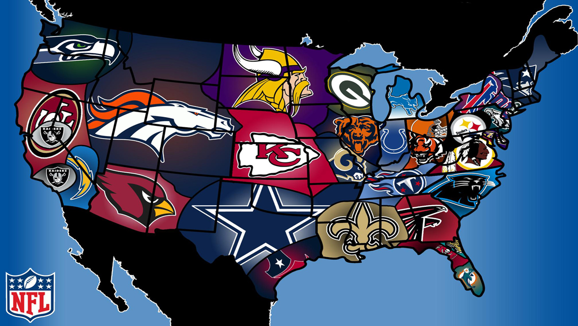 USA Teams on the Map in NFL Wallpapers 4234115 1136x640 All