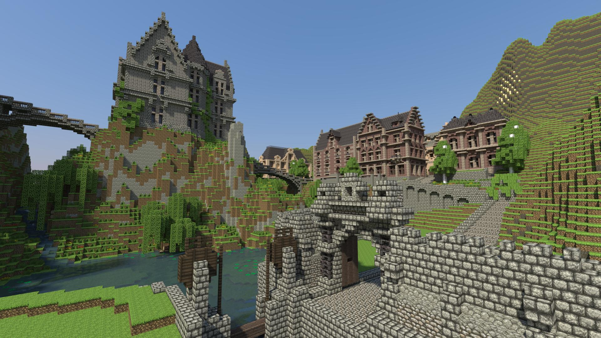 Minecraft Detailed City Overview 384.93 Kb