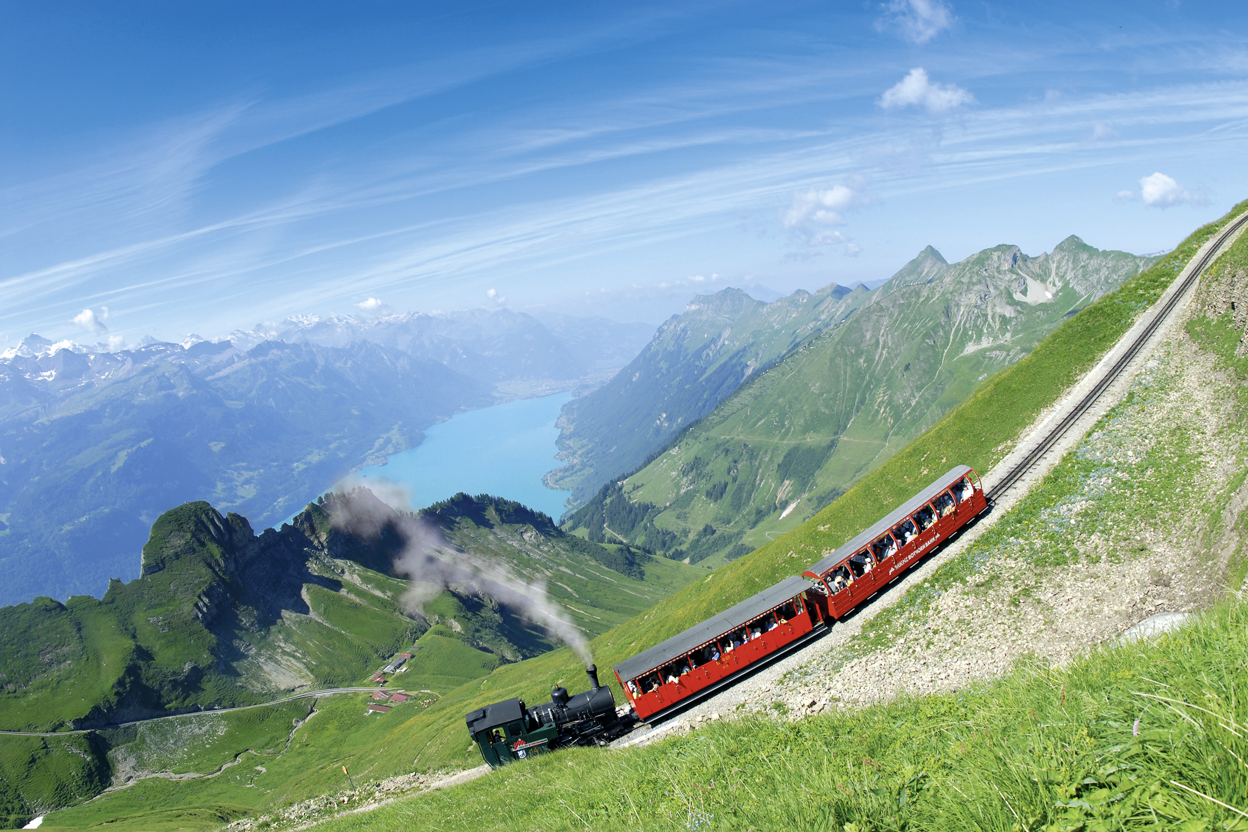A Train Going Up in the Mountains in Switzerland 657.94 Kb