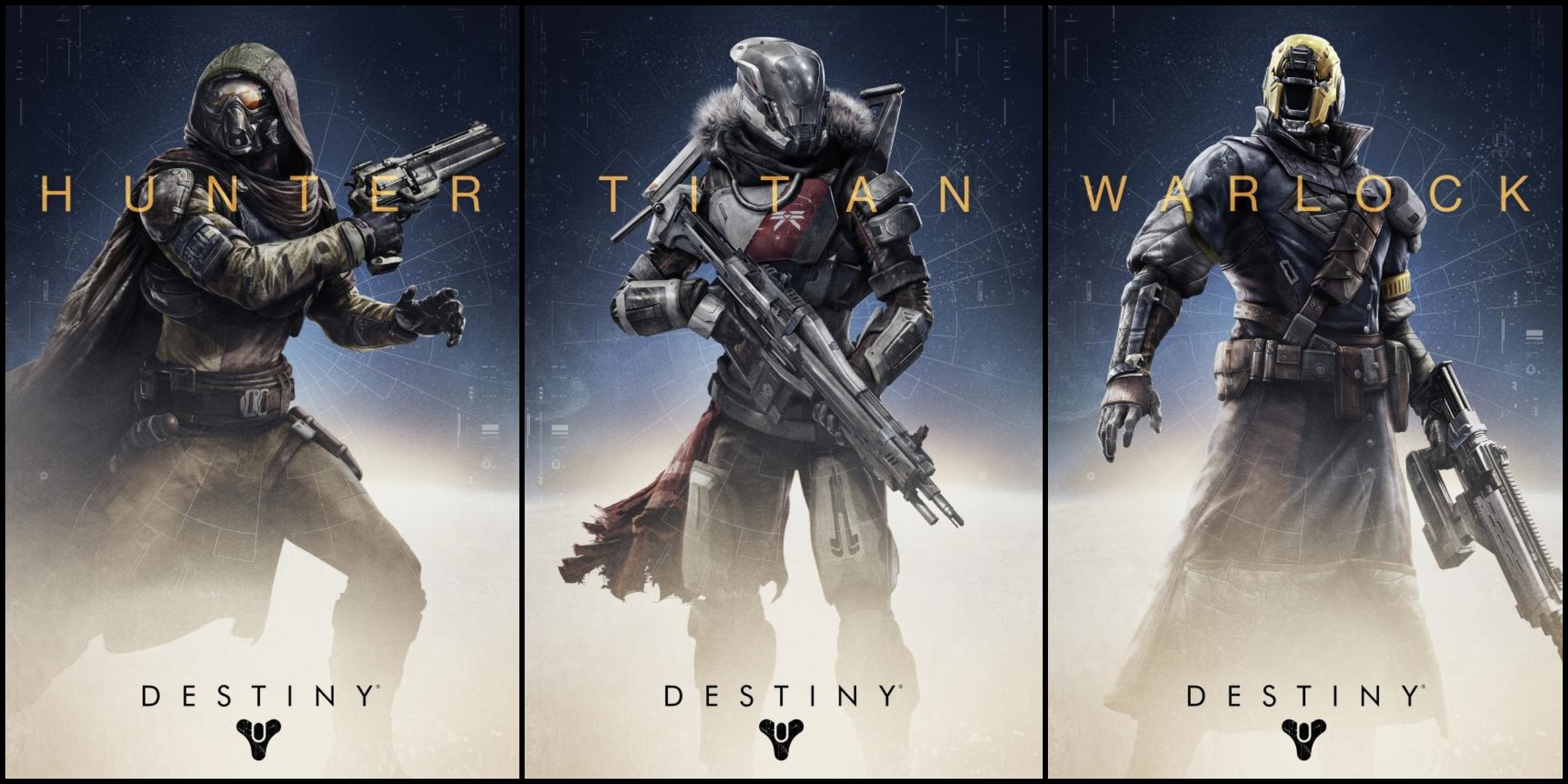 Destiny Main Classes of Characters
