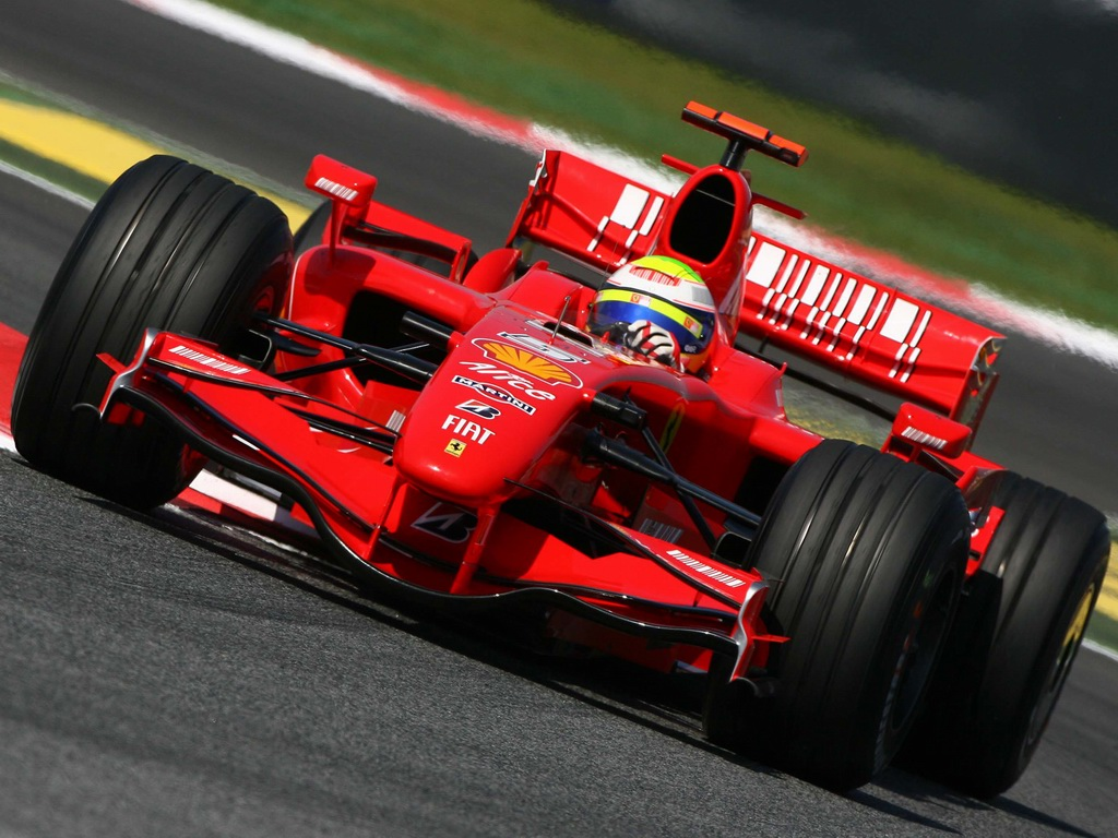 Formula 1 Driver on a Red Bolide