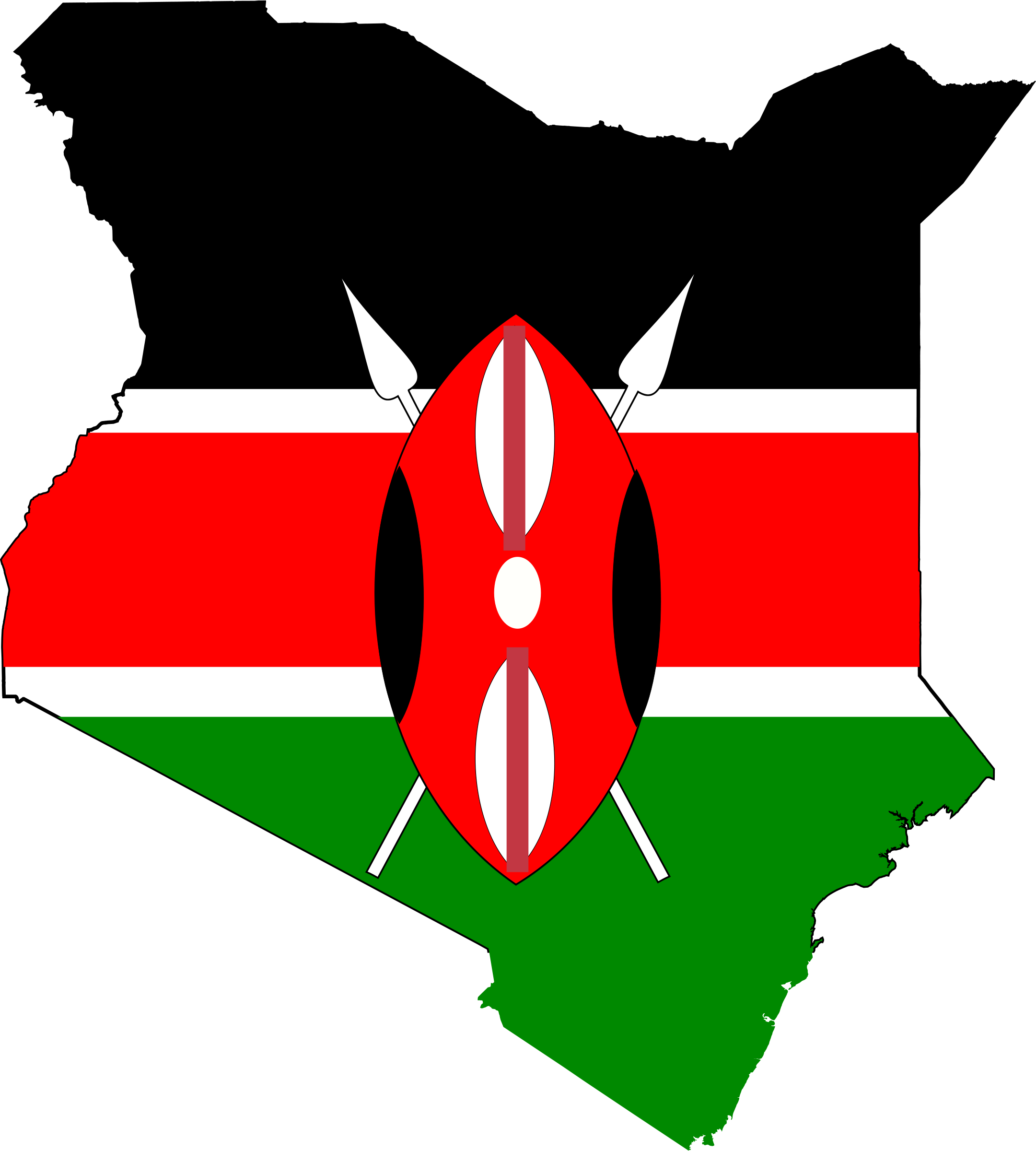 Kenya National Flag 252.98 Kb