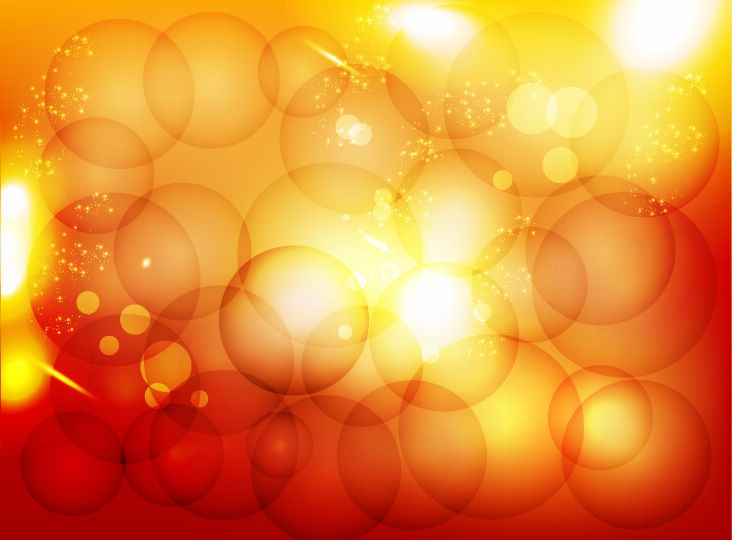 Orange Bubbles Background Design 98.13 Kb