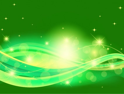 Green Shiny Curves Background Design