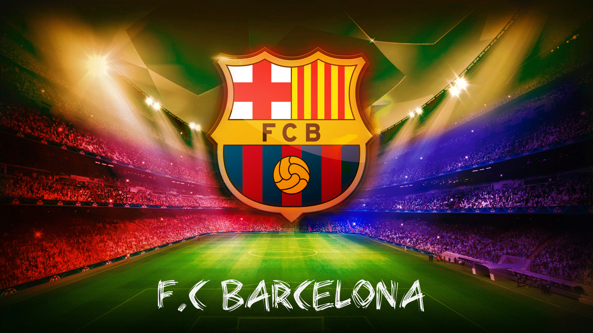 FC Barcelona Game on a Main Stadium 98.65 Kb