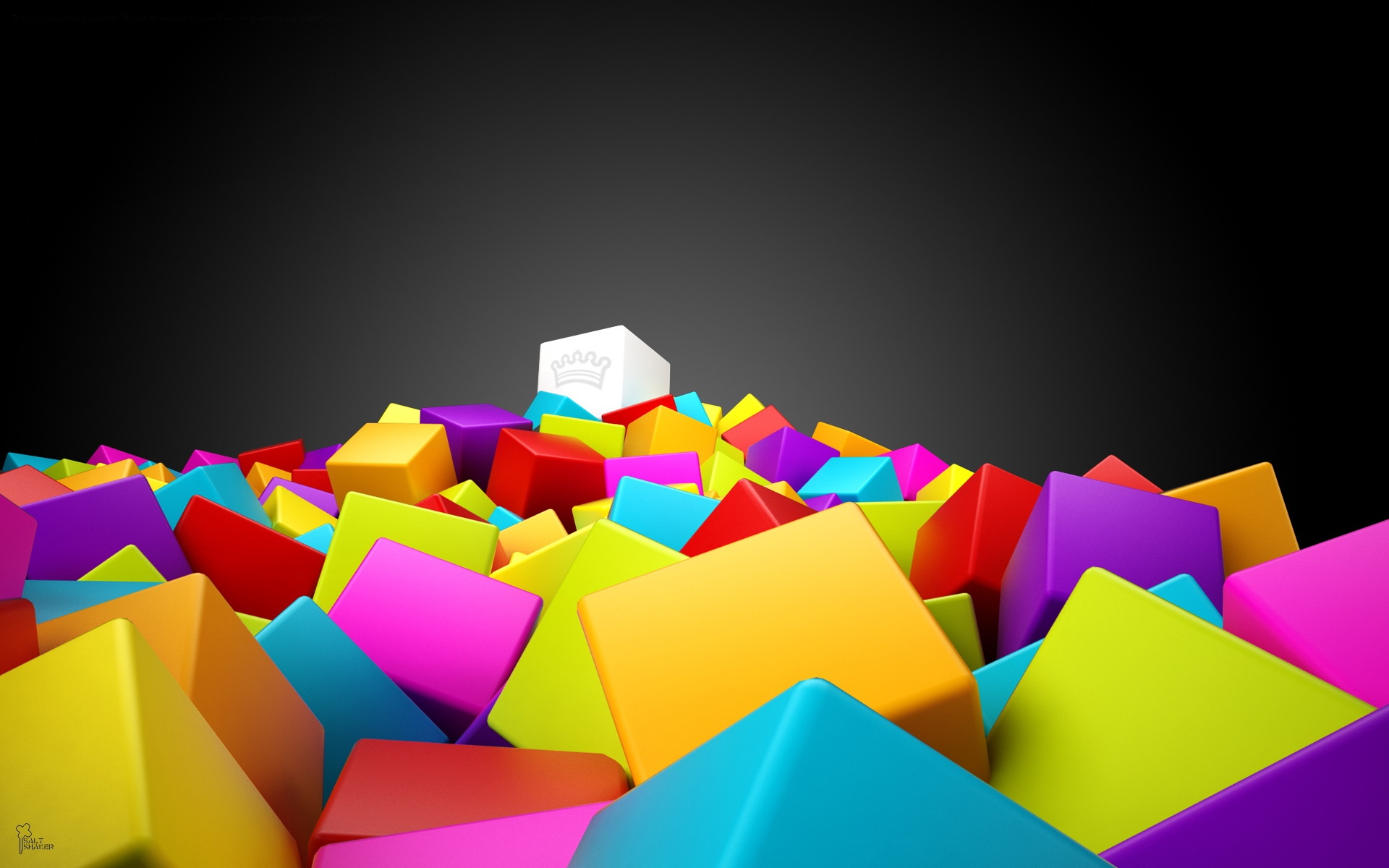 Colorful Wallpapers, Multiple Cubes  743.93 Kb