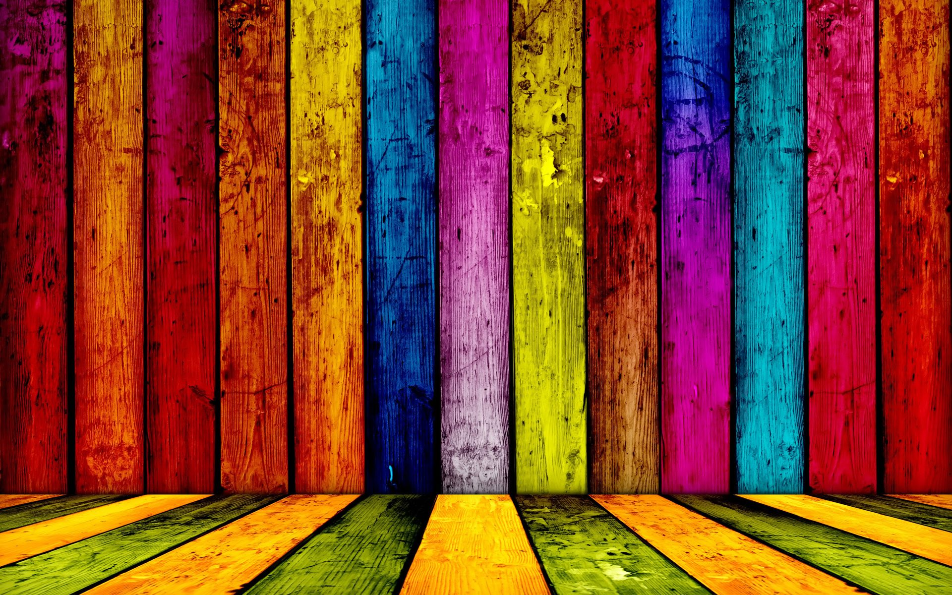 Striped Wood Colorful Wallpapers 743.93 Kb