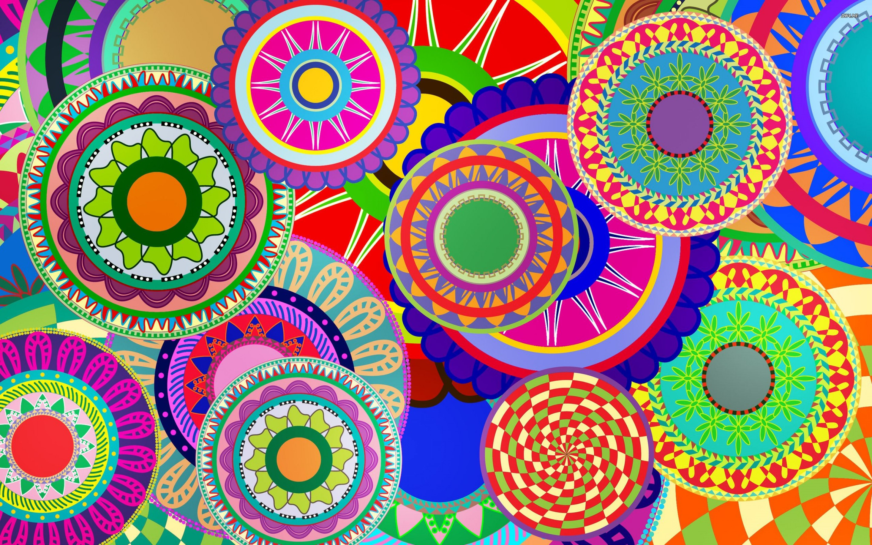 Multiple Circles Colorful Wallpapers