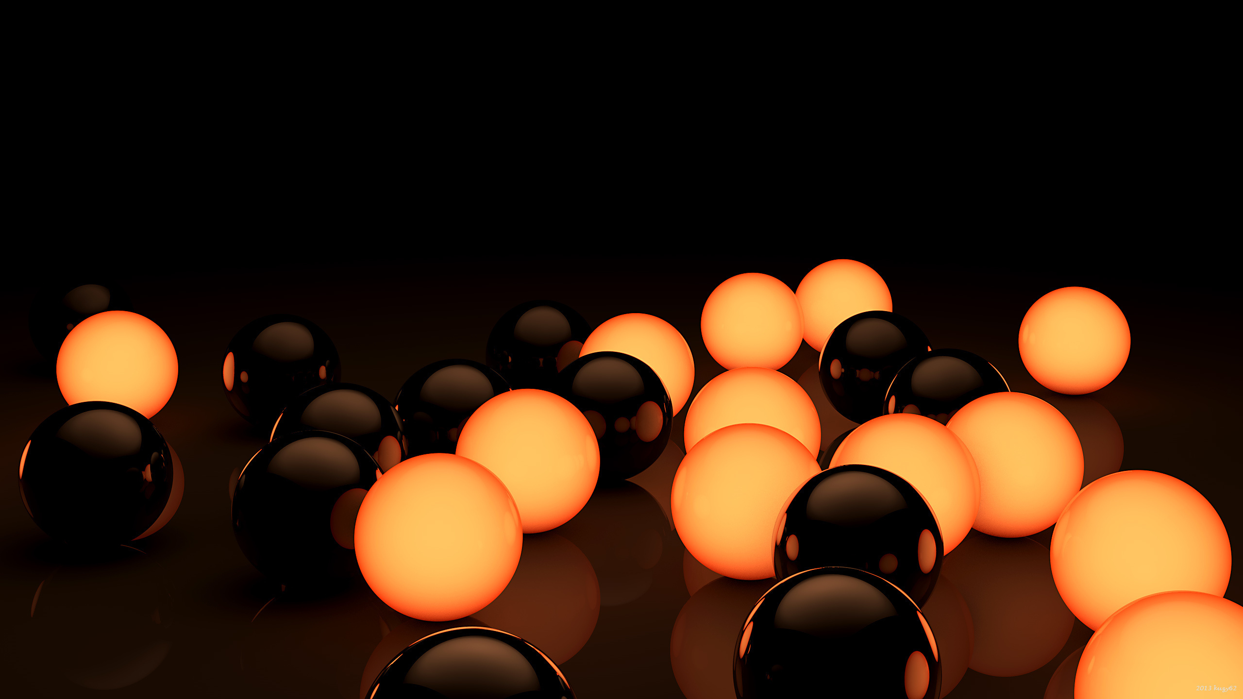 Black and orange bubbles in wallpaper 3d 4234897 for Black 3d wallpaper