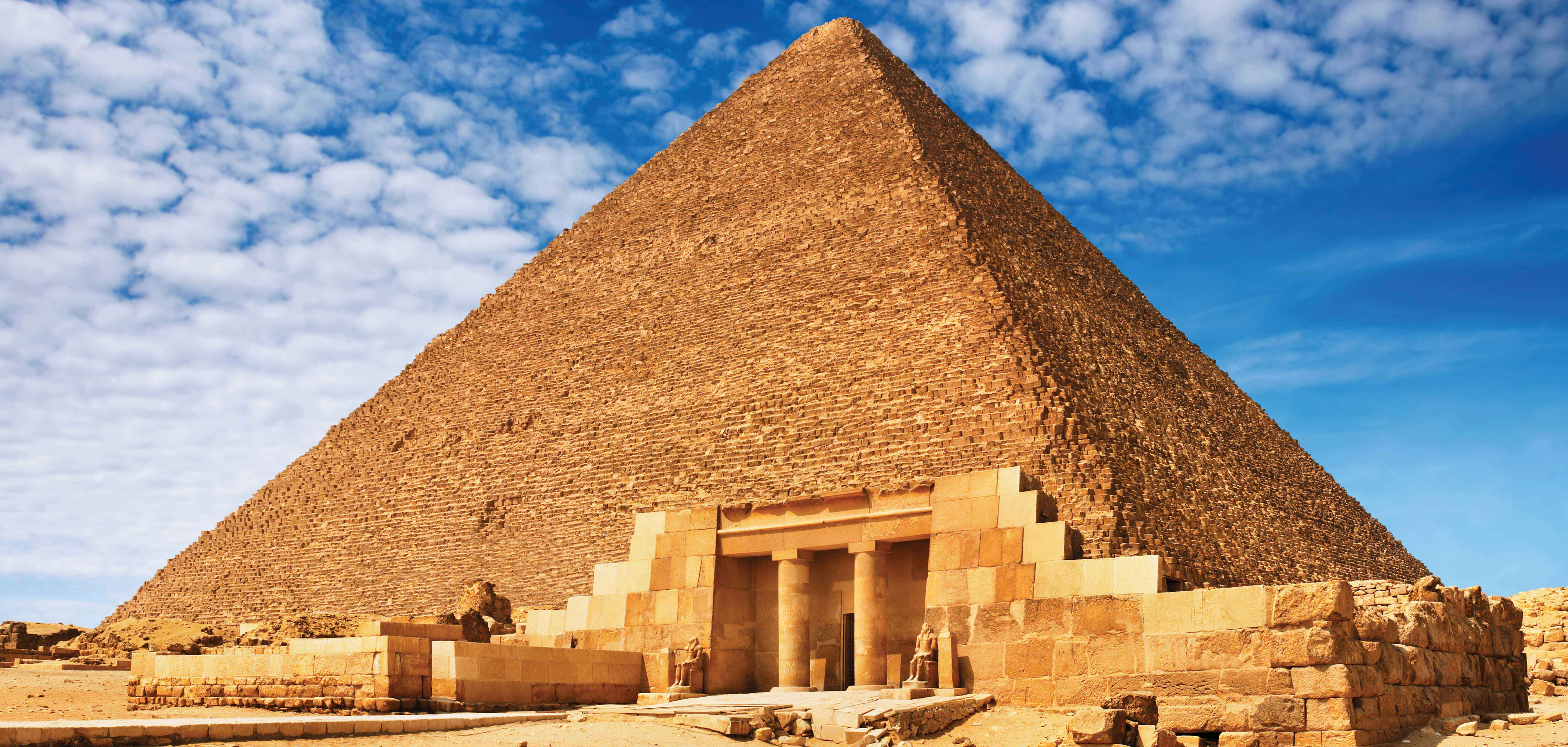 Main Entrance to a Pyramid in Egypt