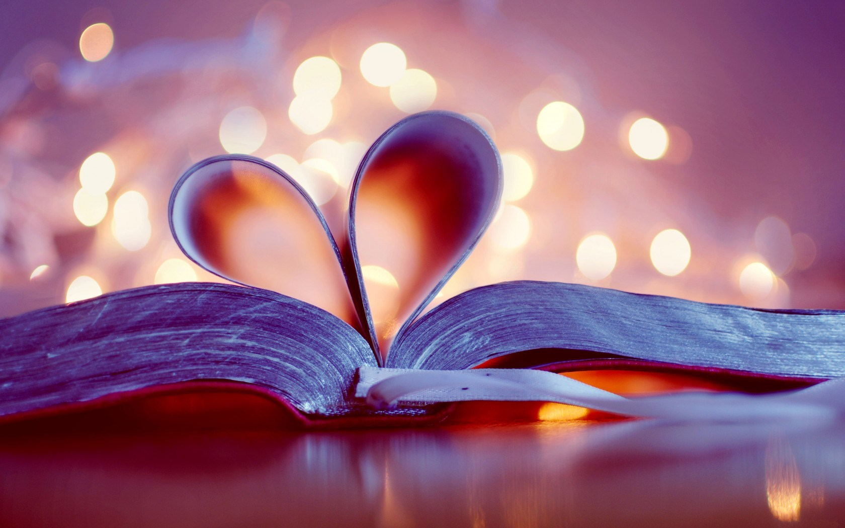 Images Of Love, Heart of Book Pages