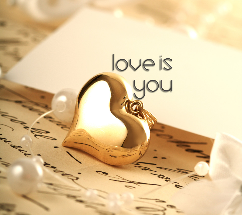 Images Of Love, Golden Heart Pendant 299.86 Kb