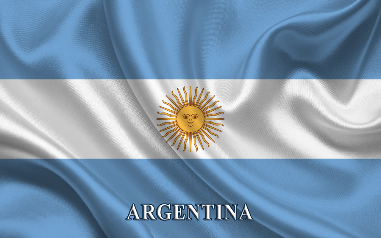Argentina Flag Triband Light Blue and White 1742.57 Kb