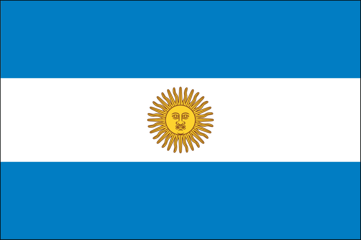 Argentina Official Ceremonial Flag 1742.57 Kb