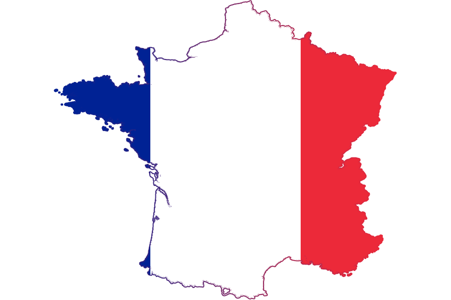 France Map and a Flag 198.88 Kb