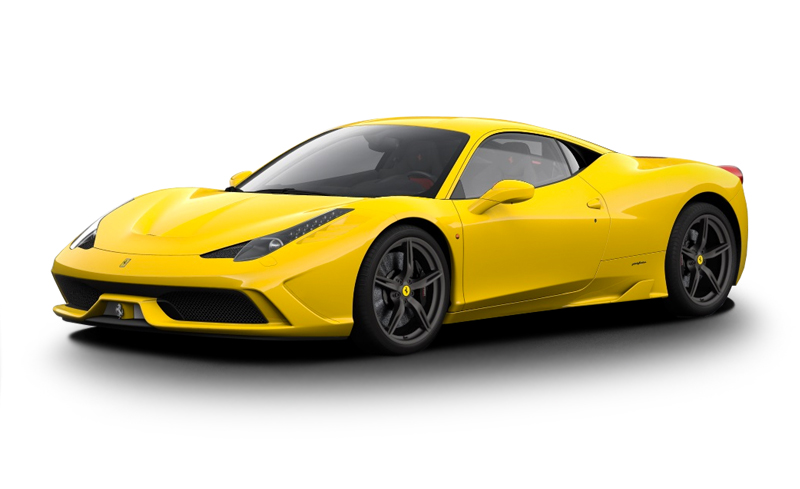 Ferrari Yellow Super Car