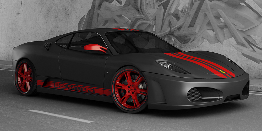 Ferrari Black with Red Design 260.45 Kb