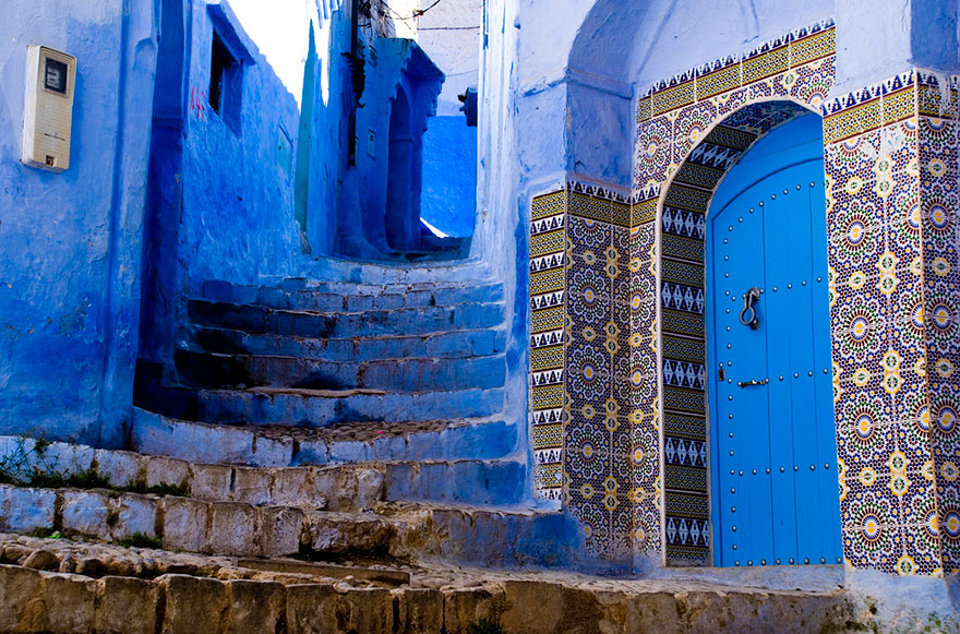 Blue Style of Houses in Morocco 399.47 Kb