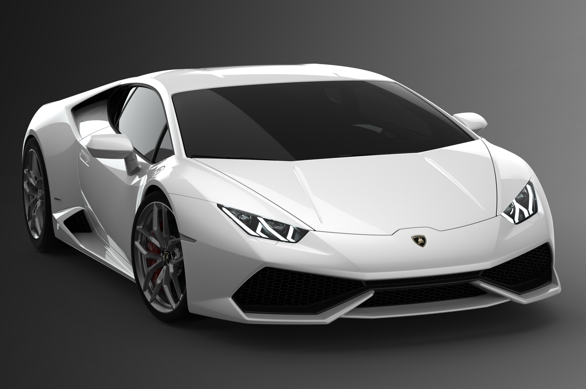 White Lamborghini Super Car 55.72 Kb