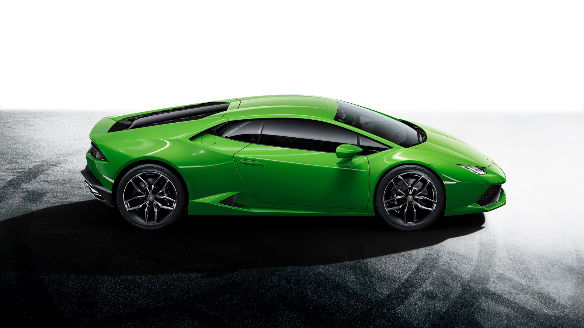 Side View on a Green Lamborghini