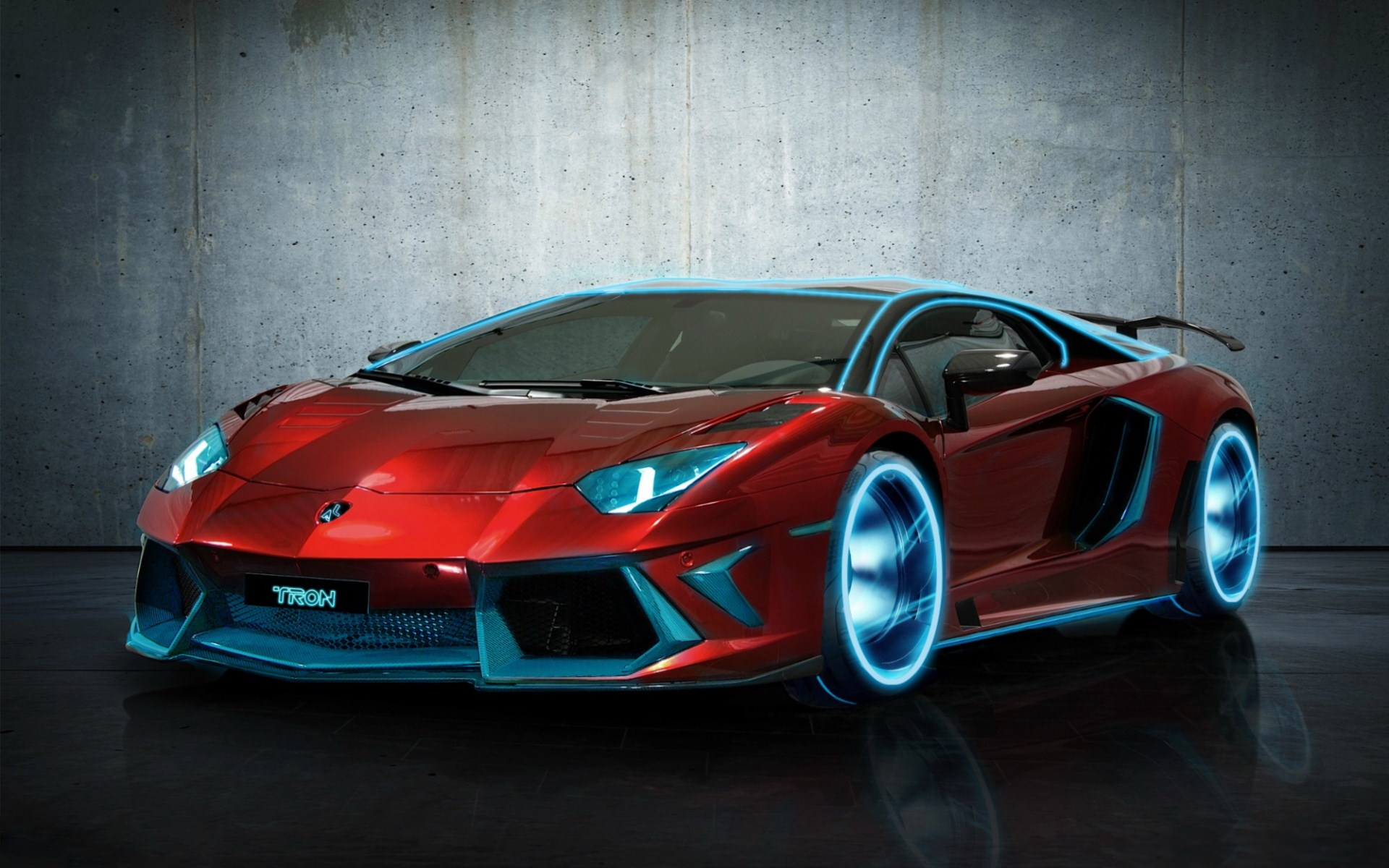 Red Lamborghini With Blue Illumination 4235555 1920x1200 All For