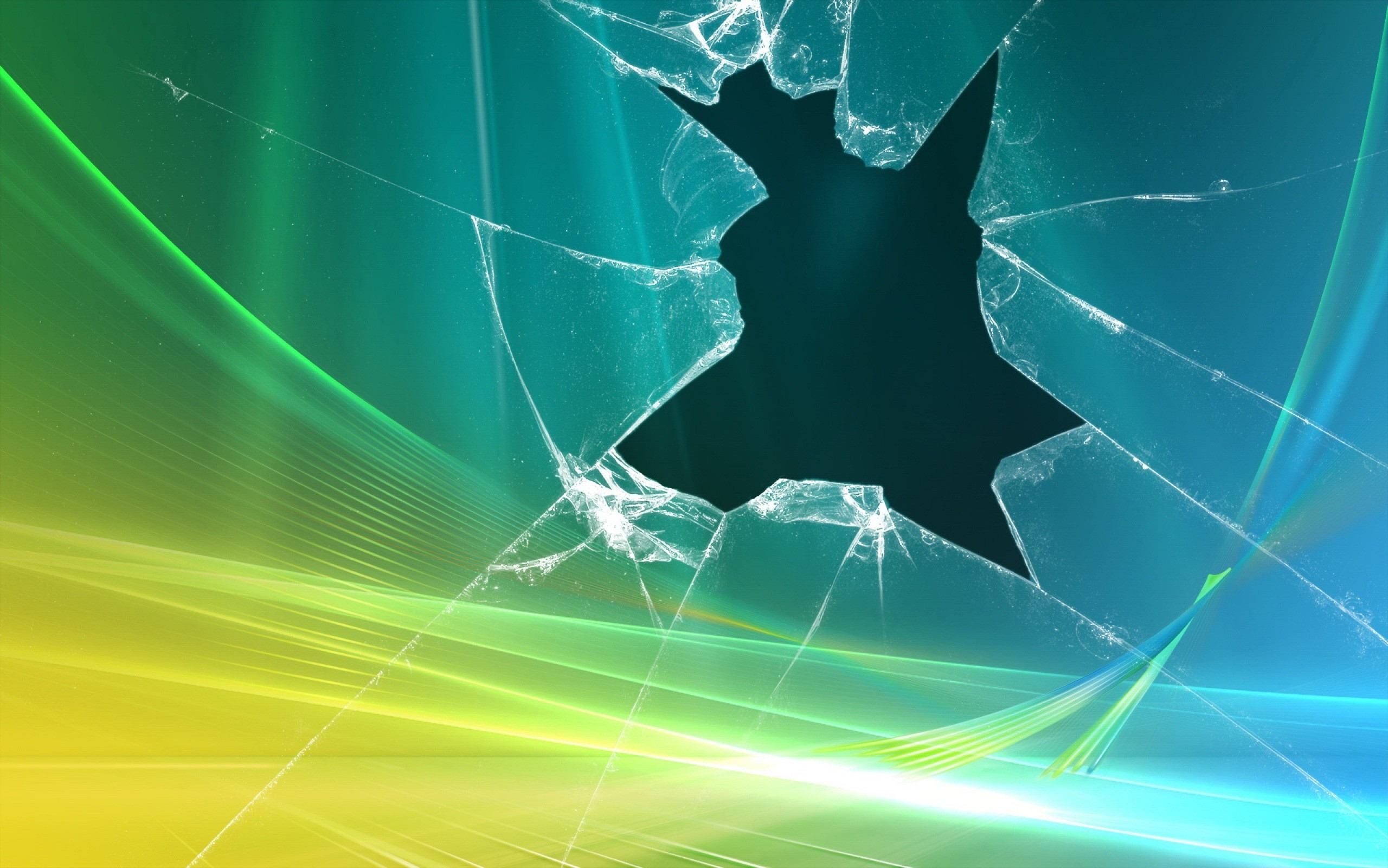 Desktop Wallpaper, Broken Glass