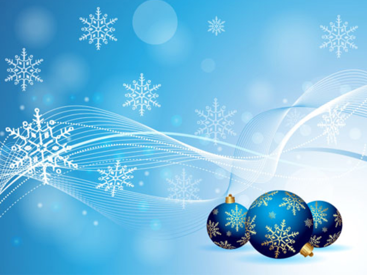 Images Of Christmas, Blue Decoration Balls  279.49 Kb