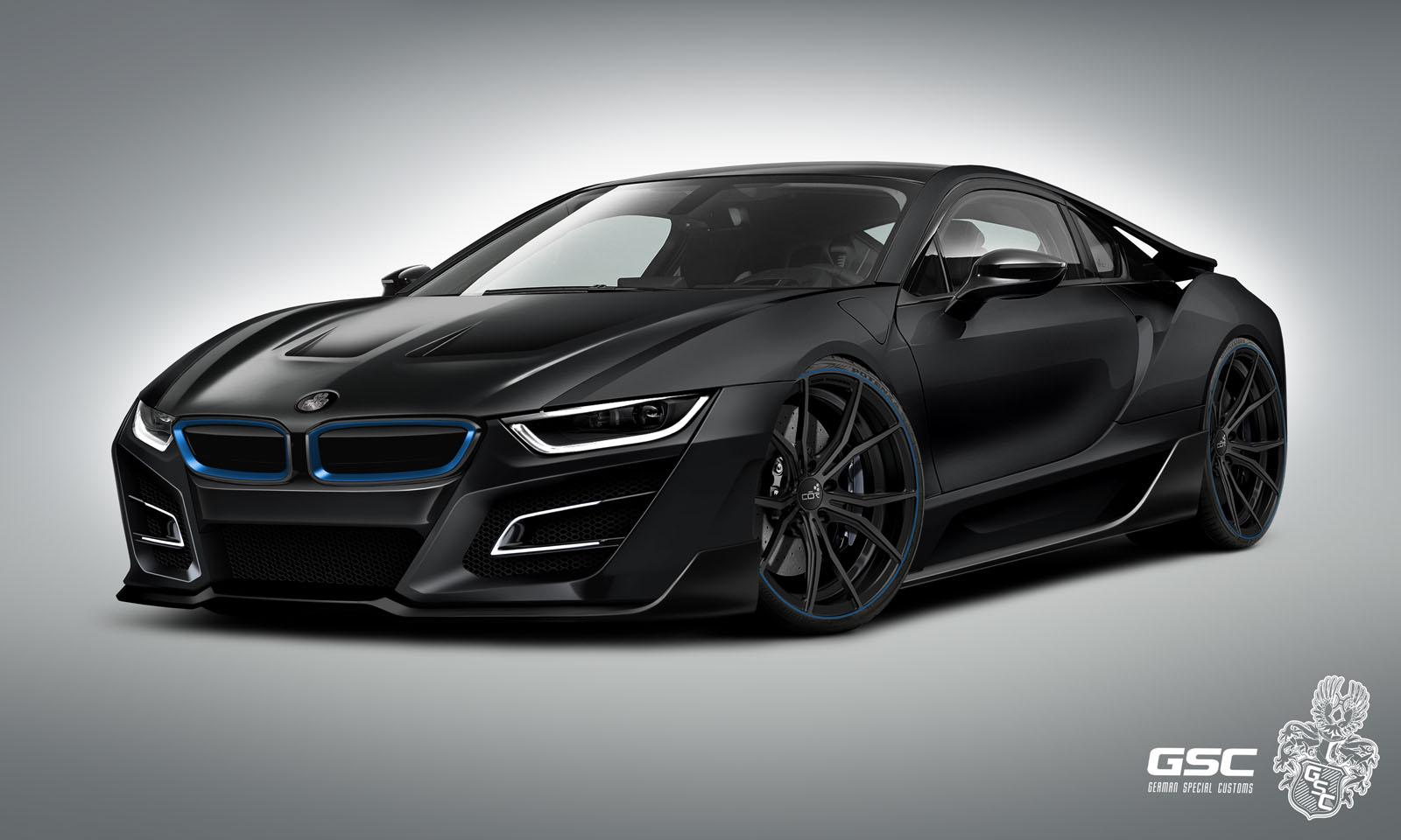 Black BMW I8 Itron