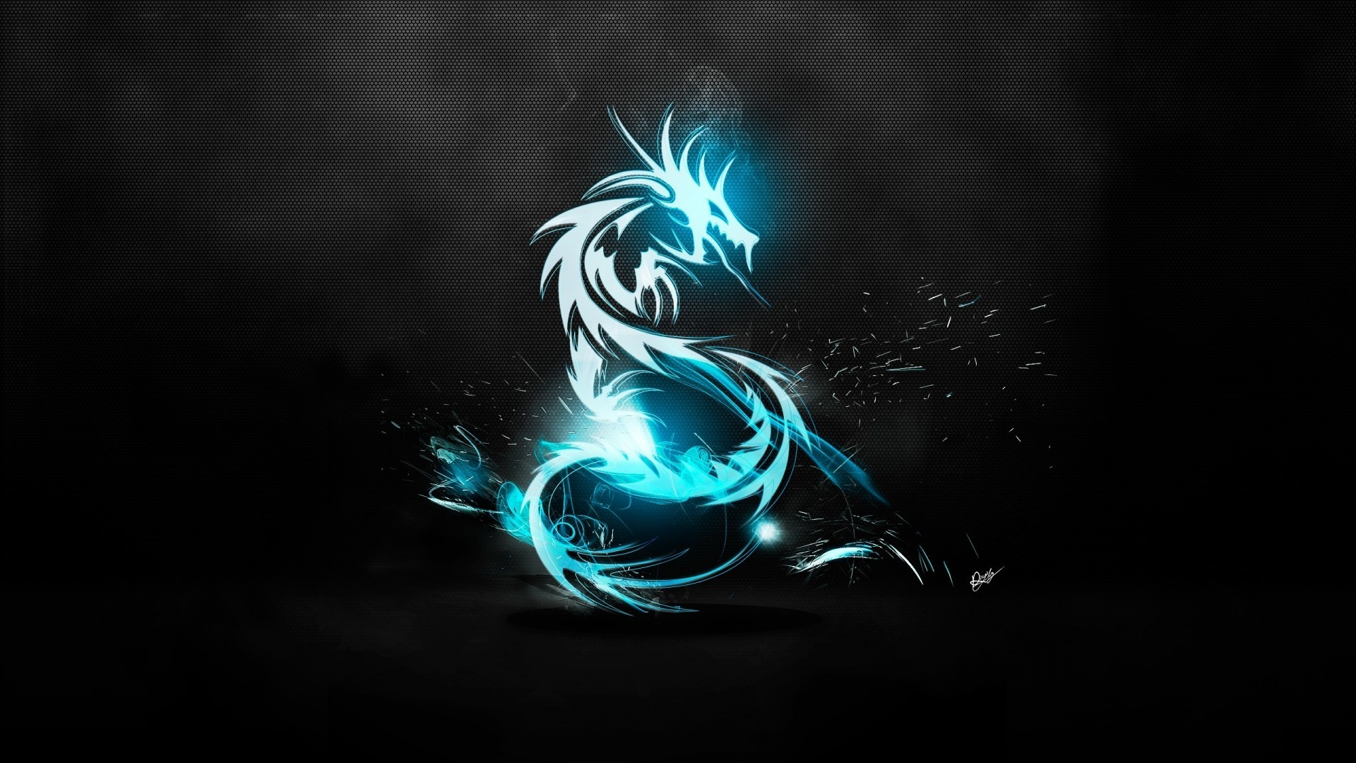 Illuminated Dragon, Cool Wallpapers 136.65 Kb