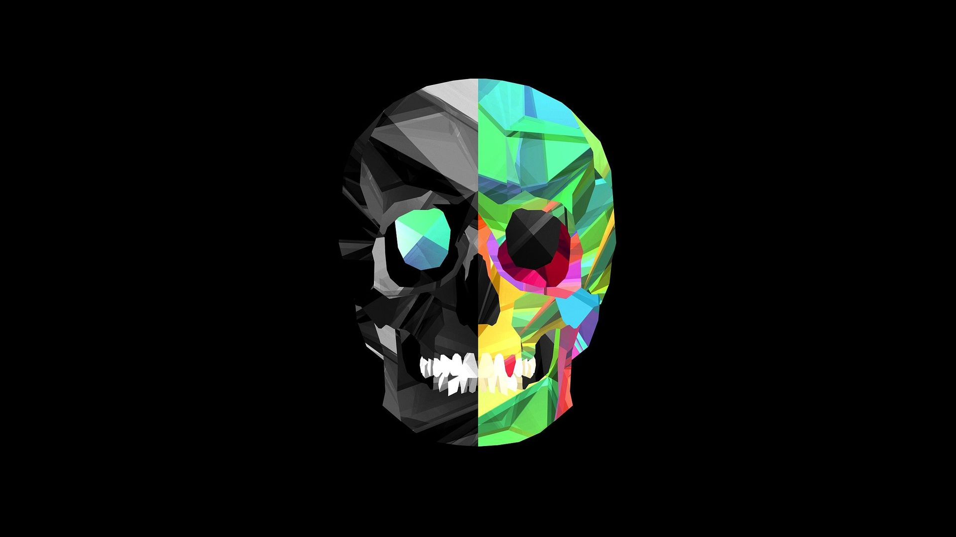 Cool Images of Colorful Skull 2174.45 Kb