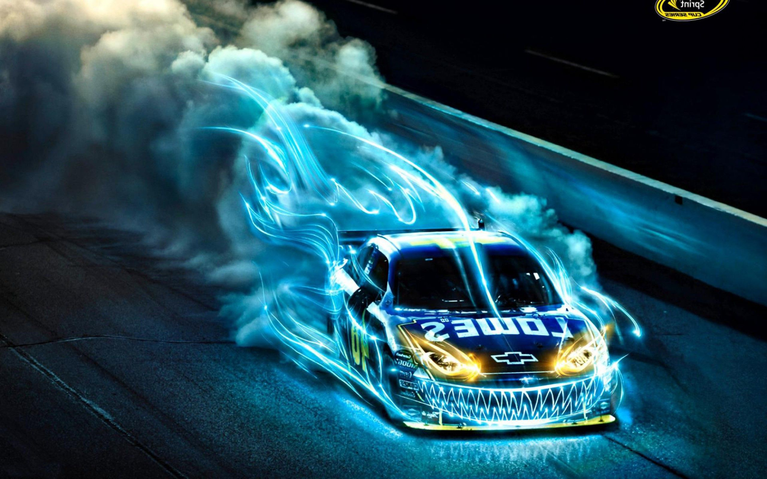 Racing Car Illuminated Wallpaper 215.55 Kb
