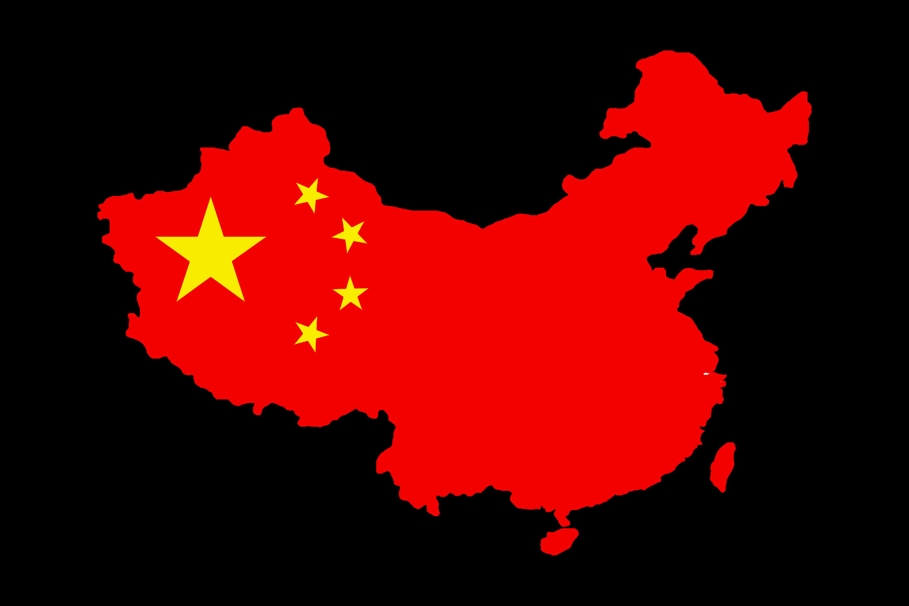China Map over Black Background 449.01 Kb