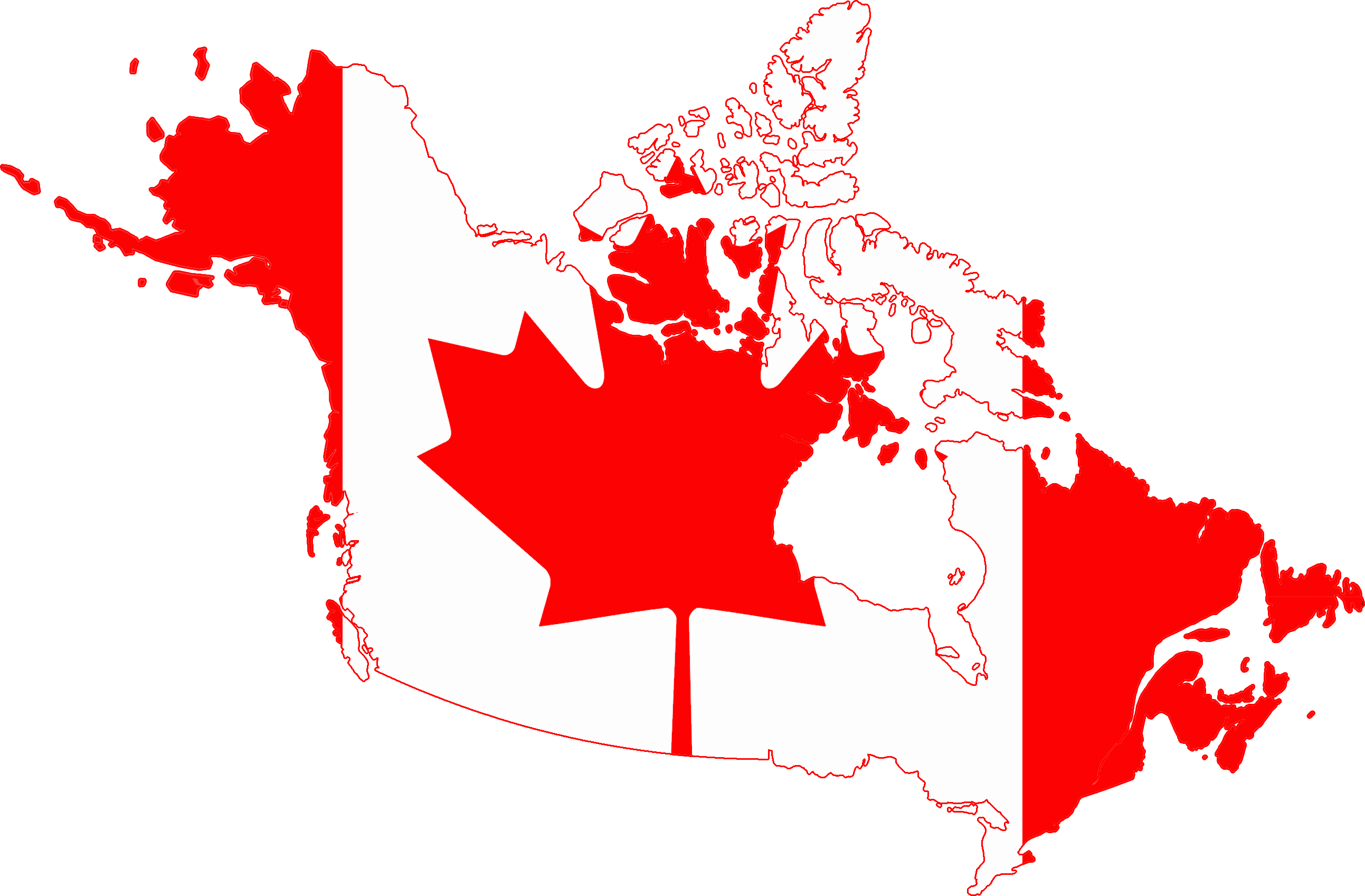 Canada Map With A Flag X All For Desktop - Canada map with flag