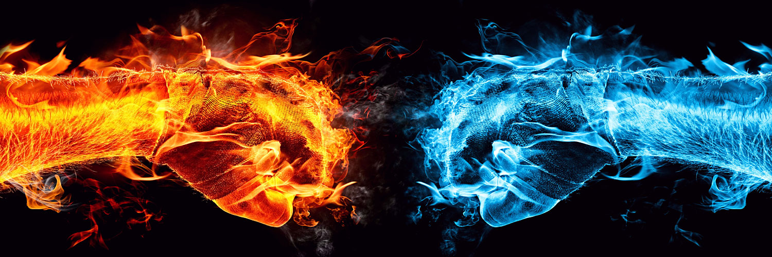 Cool Pictures, Ice and Fire Opposition 1585 Kb