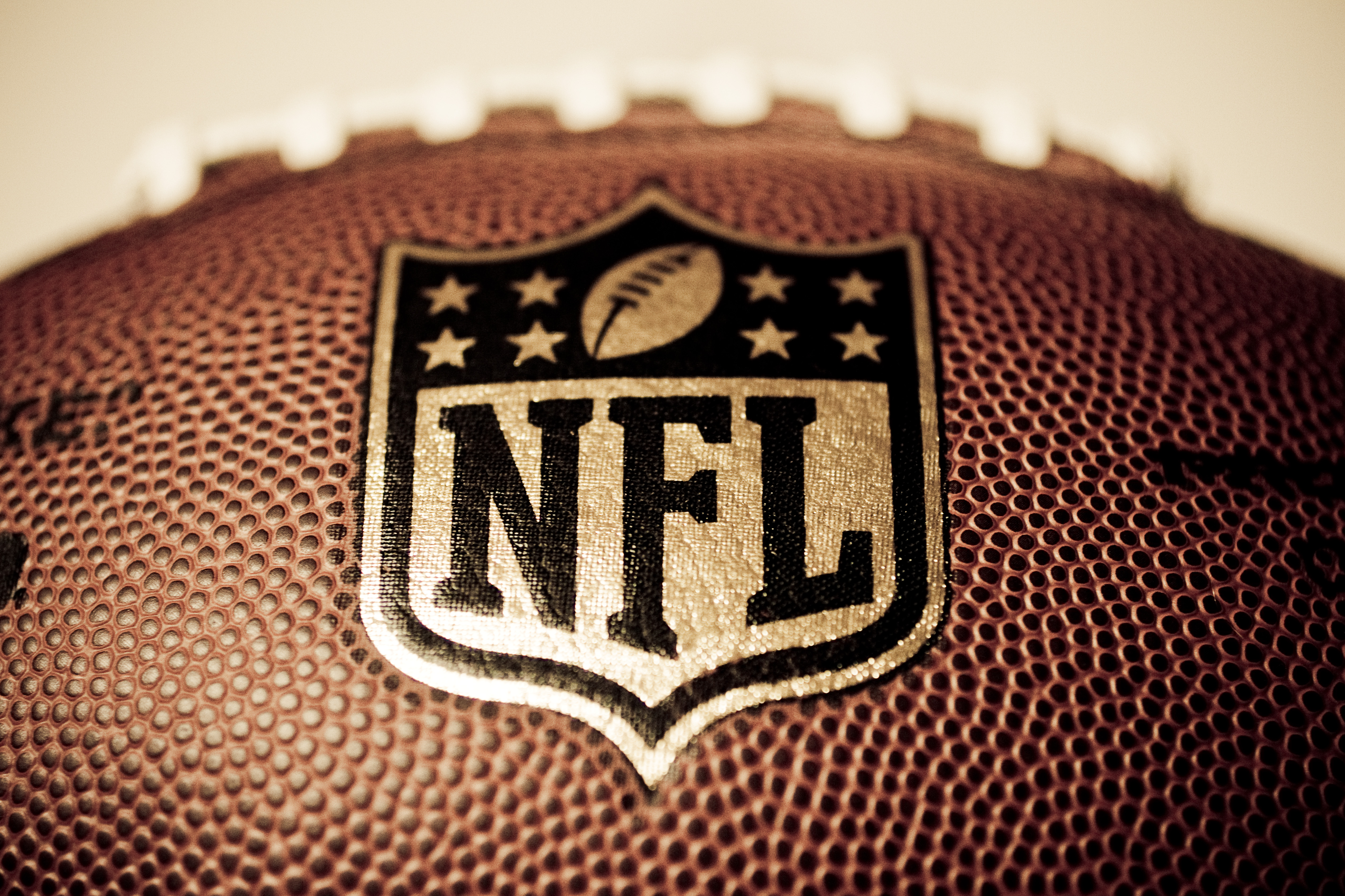 Nfl Logo on a Ball 5071x3380