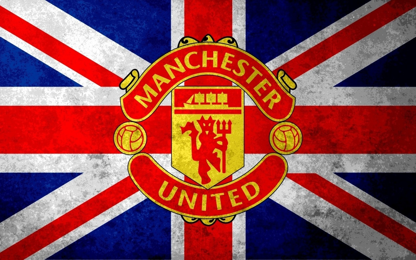 Manchester United F C Flag 4238379 1440x900 All For Desktop