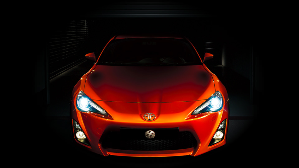 Orange Toyota GT 86 Sedan