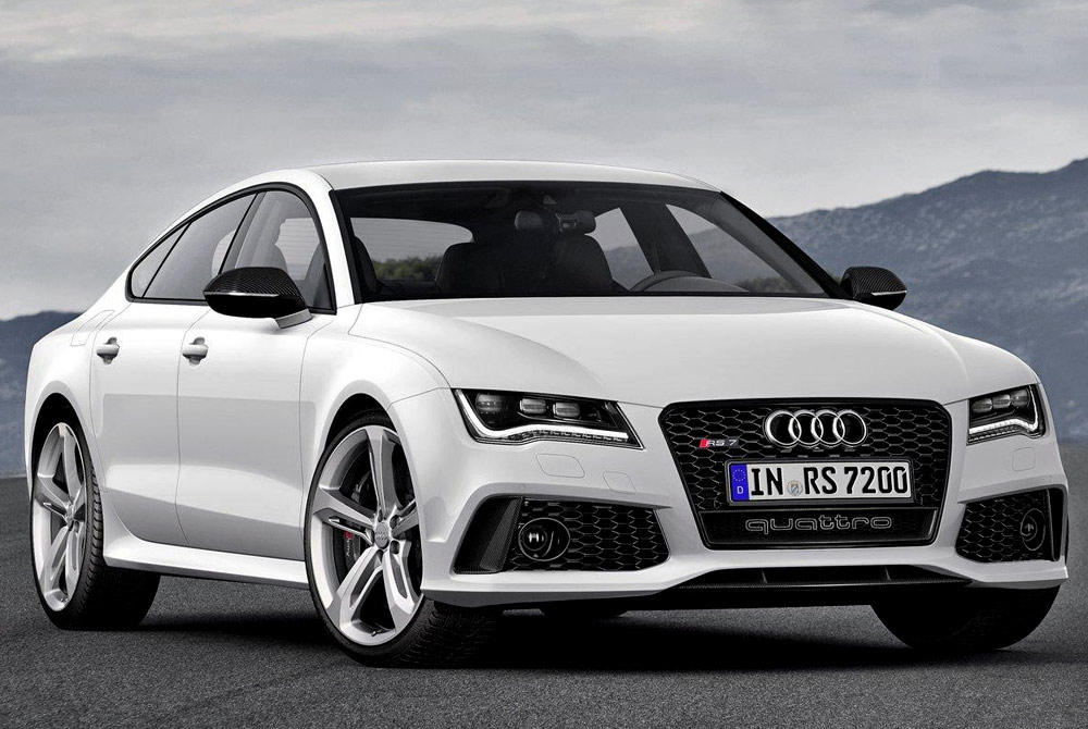 White Audi RS7 Drive 1050.97 Kb