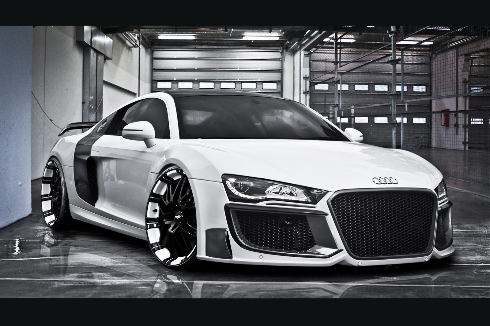 White Luxurious Audi
