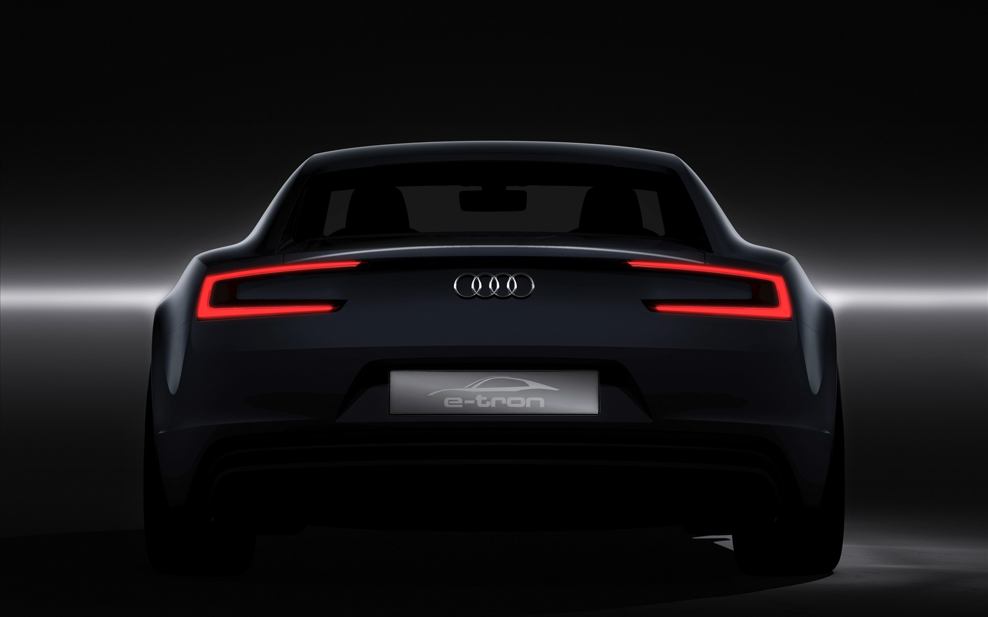 Black Audi Rear View